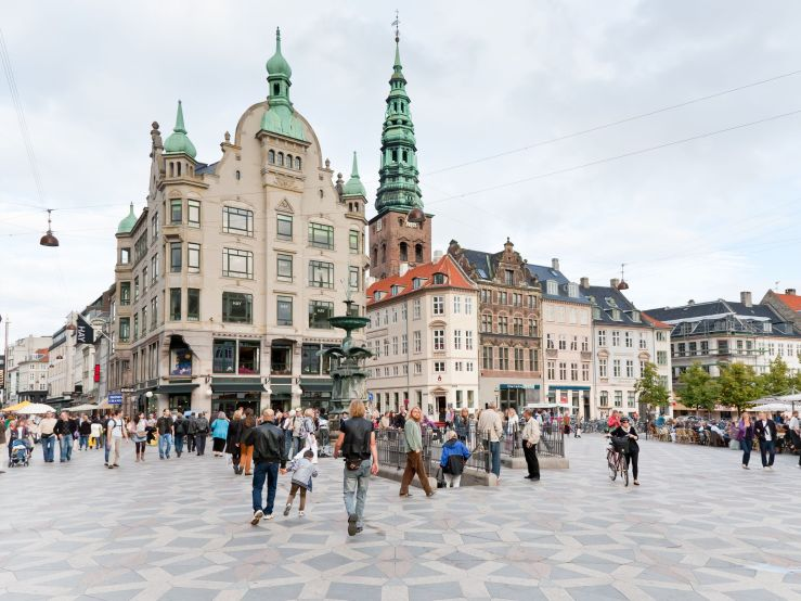 Amagertorv-central-square-in-Copenhagen-Denmark